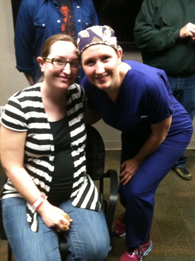 Our friend and nurse, Becky.