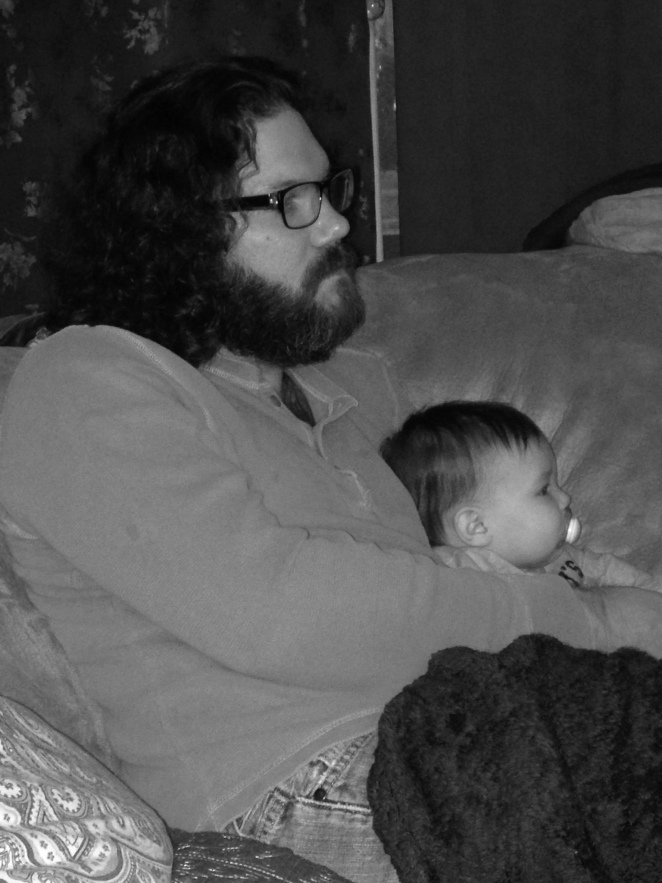 Hanging with Daddy.
